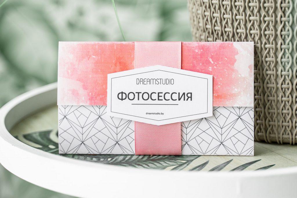 подарочный сертификат, студийная фотосессия, подарок для девушки